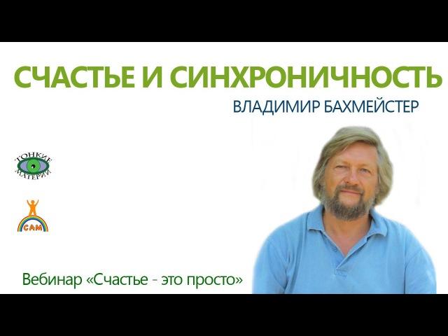 Счастье и синхроничность. Владимир Бахмейстер