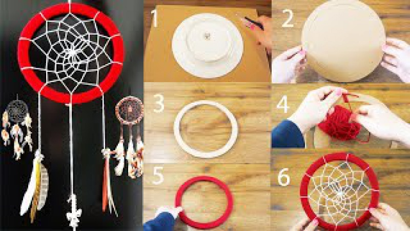 DIY Super Easy Way to Make a Dreamcatcher | Step by step! Easy tutorial! DiYana