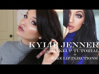 Kylie Jenner Makeup Tutorial + How To FAKE Lip Injections!