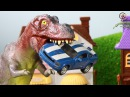 Мультик про машинки. Динозавр, трактор, монстр-траки, пожарная. МанкиМульт