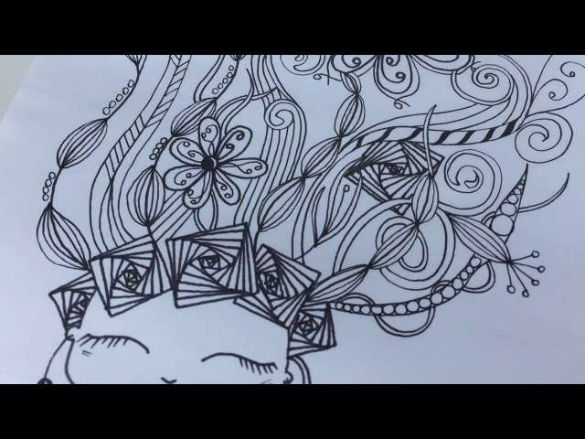 Zendoodle Speed Drawing