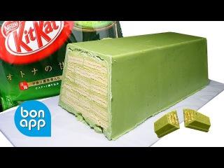 Гигантский КитКат с зеленым чаем. Mega KitKat green tea.