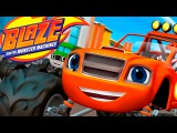 Blaze and the Monster Machines Dragon Island Race. Games for kids