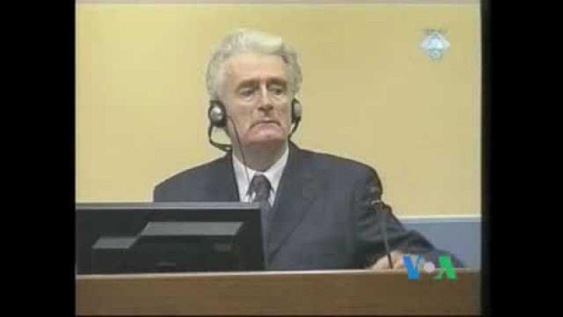 Радован Караджич перед Гаагским трибуналом