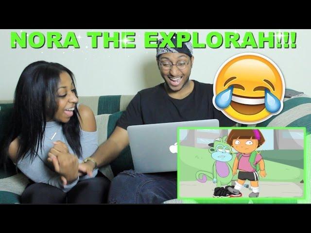 Couple Reacts : NORA THE EXPLORAH: [GHETTO DORA] By DashieXP Reaction