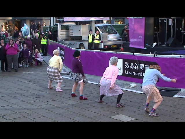 The Dancing Grannies strut their stuff in Stafford
