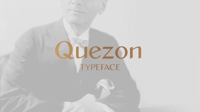 Quezon шрифт скачать бесплатно
