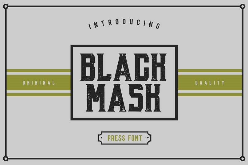 Black Mask Press шрифт скачать бесплатно