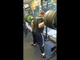 Влад Алхазов (Израиль), присед в бинтах без ремня - 350 кг на 5 раз💪