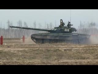 Боевые стрельбы экипажей танков Т-72Б3 на полигоне Мулино