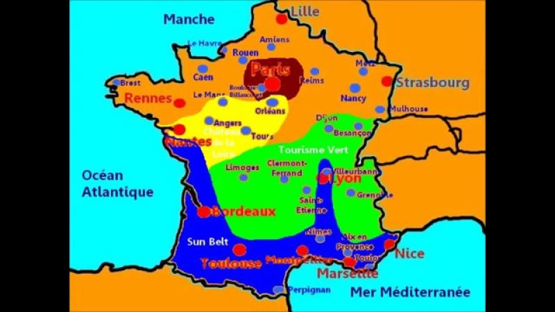 Carte FranceLeçon 1 La géographie de la France