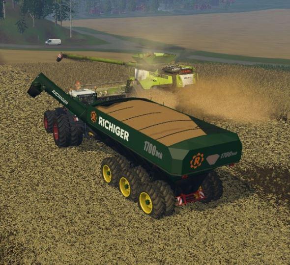 Richiger 1700 bsl Uberladewagen для Farming Simulator 2015 - Скриншот 1
