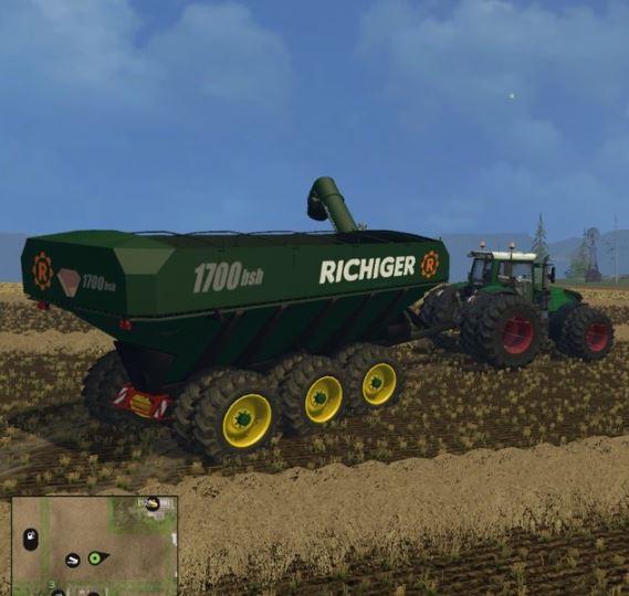 Richiger 1700 bsl Uberladewagen для Farming Simulator 2015 - Скриншот 2