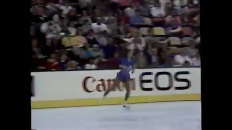 Katarina Witt 1987 Worlds Short Program 1