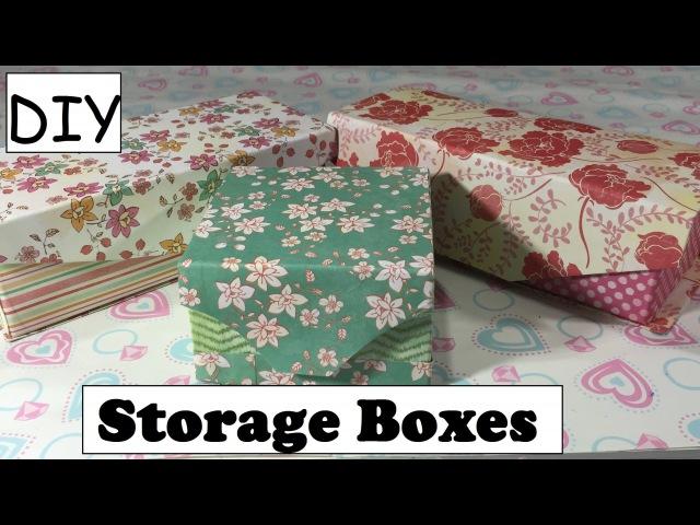 DIY Storage Box Using Empty Box Cartons Desk Organizer 10