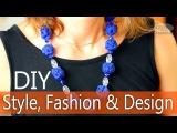 Дизайнерские тканевые бусы для модниц своими руками. Style, Fashion Design. DIY Beads.