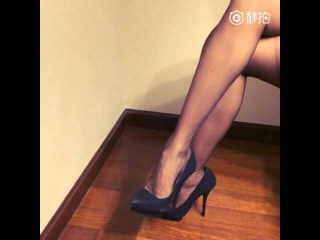 Sexy black silk Stockings and high heels