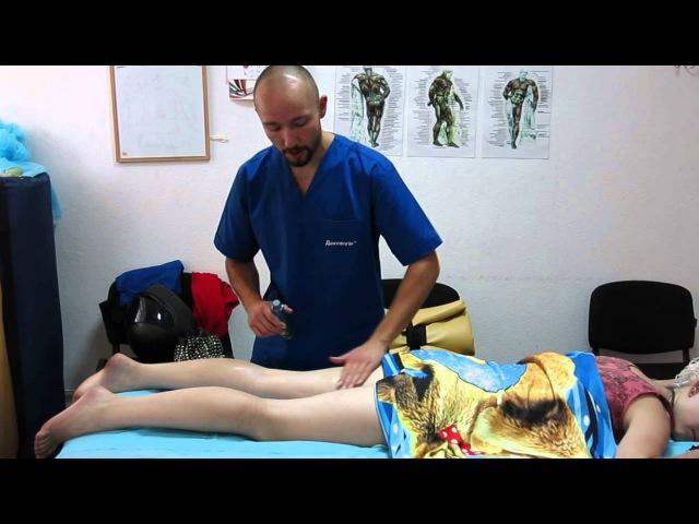 Лимфодренаж ног. Задняя поверхность. Сгонка лимфы