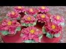 Мастер класс по Рождественскому цветку Цветы из крема decoration