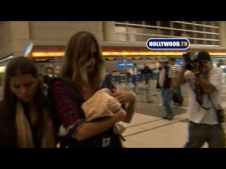 Gisele Bündchen And Baby At LAX