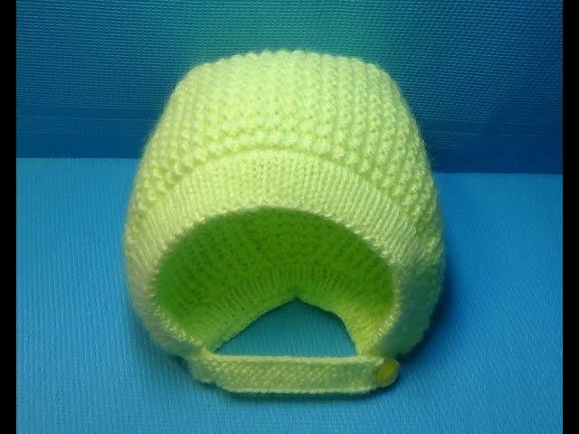 Вязание спицами детская шапочка-чепчик146