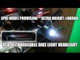 Night Provision™ ULTRA BRIGHT BX960 USB Rechargeable Bike Light Headlight Flashlight LED 960 Lume