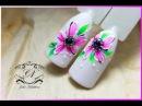 ❤Дизайн ногтей для начинающих❤Рисуем цветочки с Patrisa nail❤