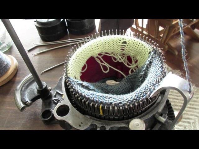 Vintage Sock Knitter (making a sock)