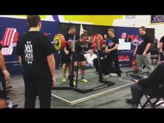 Натали Хансон, приседания 262,5 кг
