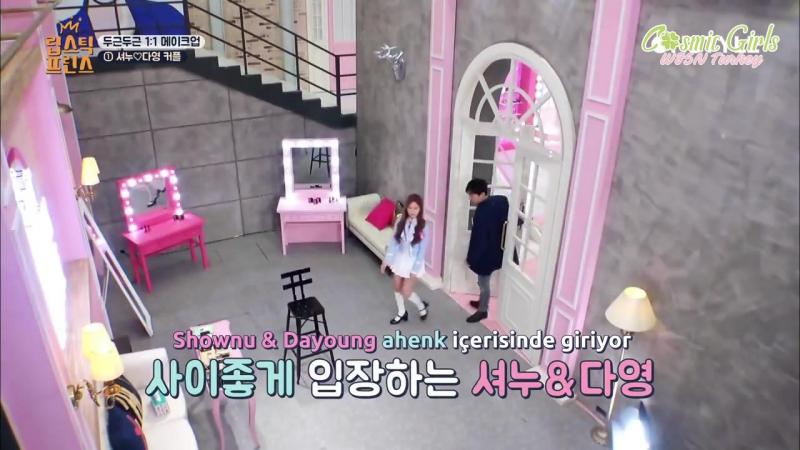 [16.02.2017] Monsta X Shownu , Dayoung'a makyaj yapıyor @ Lipstick Prince 12. Bölüm Final [Türkçe Altyazılı]