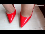 stiletto high heels girl beauty leg with nylons silk stockings part010