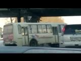 ДТП с участием автобуса в Бийске на переезде. 11.02.17