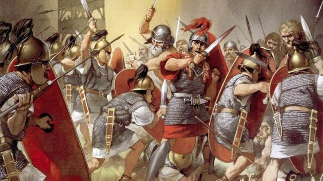 54 mm Roman Legionary Tin Soldier Soldier № 5 semi-collectible Roman army