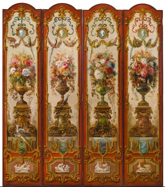 Paintings Of Flowers, Sitting Rooms And Dollhouses On