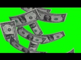 футаж падающих денег