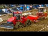 BIG RC tractor Action! RC tractors working hard! Case! John Deere!