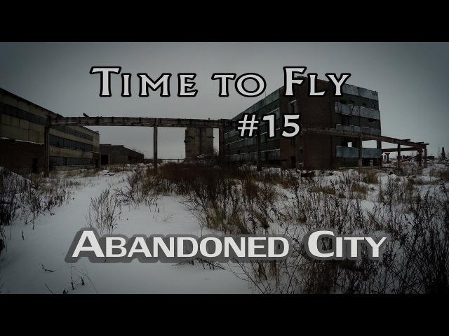 Abandoned places - ghost city aerial. DJ Phantom 4 drone video. Уварово, заброшенный химзавод.