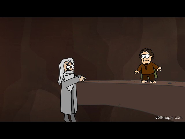 Падение Гендальфа (анимация VolF Maple)