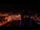 Вид из кабинки Колеса Обозрения на вечерний Челябинск (РК Мегаполис)