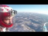 Дед Мороз с парашютом, С Новым 2017 Иркутск ! _ skydive santa siberia