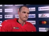 Интервью с Максимом Потаповым после первого периода матча