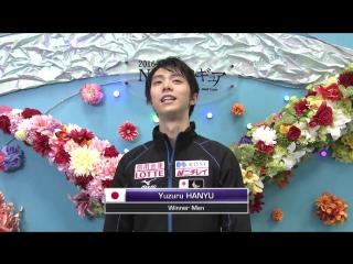 NHK Trophy 2016. Men - Free Skating. Warm-Up Group 2