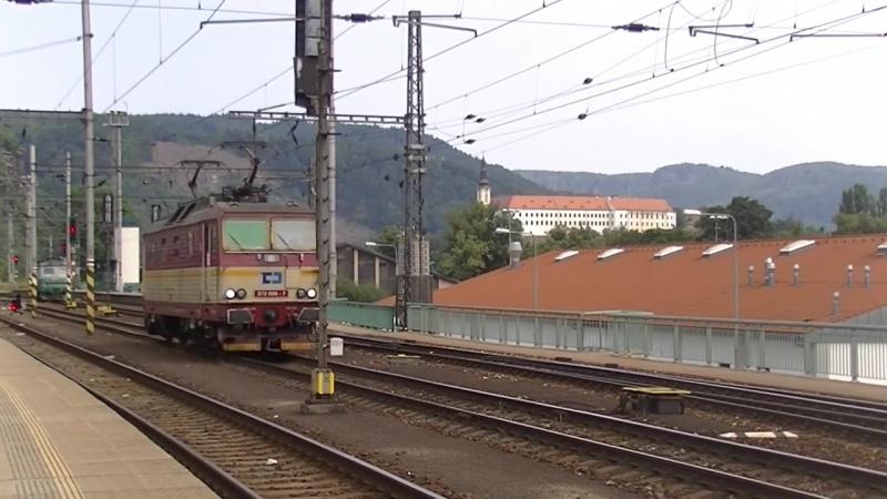 Rail Traffic Decin hlavni nadrazi (CZ) 17-07-2014