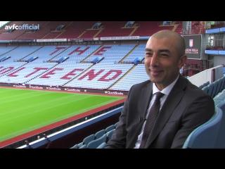 Первое интервью Роберто Ди Маттео в качестве нового менеджера «Астон Виллы»