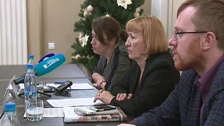 На пресс-конференции, посвященной конкурсу «Золотое перо» – 2016 [Телеканал «Санкт-Петербург»]