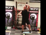 Mace + Indo Board. 30s on x 30s off for 3-5 sets. Mobility coupled with balanceproprioceptive work as a warm-up.