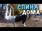 Как Накачать Спину в Домашнмх Условиях! тренировка мышц спины! как накачать быст...