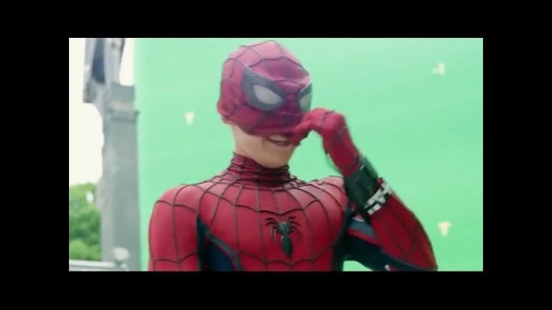 Съемки фильма Человек-паук Возвращение домой (2017) Behind The Scenes Spider-Man Homecoming » Freewka.com - Смотреть онлайн в хорощем качестве