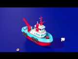 Boats and ships for children. Construction game׃ tugboat. Educational videos cartoons for toddlers