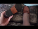 Vintage Minelli Loafers Shoes, Made in Spain, 1970s worn with Grey Pantyhose